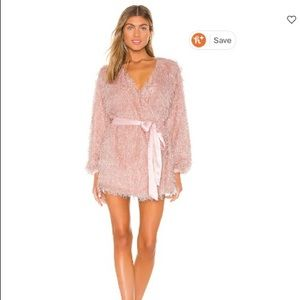 Lovers and friends pink fuzzy dress